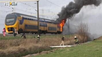 RTL Nieuws Trein in brand na explosie