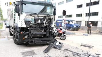 RTL Nieuws 27 gewonden: Truck ramt stadsbus Eindoven