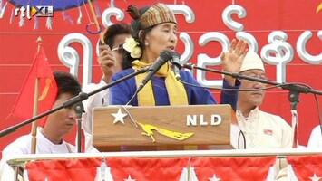RTL Nieuws Duizenden op de been voor verlosser Suu Kyi