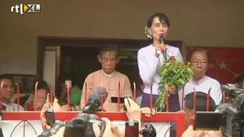 RTL Nieuws Suu Kyi eist winst verkiezingen Myanmar op