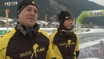 RTL Boulevard Amanda en Martijn klaar voor schaatstocht
