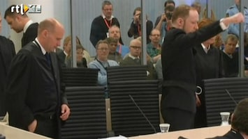 RTL Nieuws Tweede procesdag Breivik geschorst