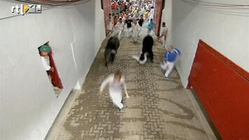 RTL Nieuws Gewonden bij eerste stierenrennen Pamplona