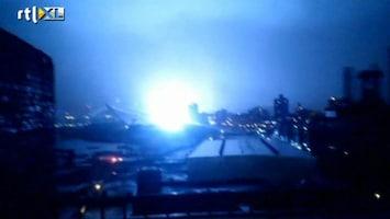 RTL Nieuws Explosies en overstromingen, Sandy bereikt New York