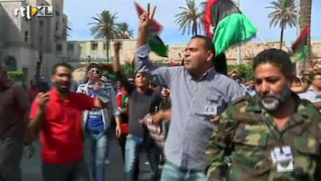 RTL Nieuws Juichende reacties in Tripoli