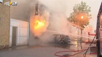 RTL Nieuws Brand nadat auto café ramt