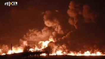 RTL Nieuws Enorme vuurzee na ontploffing trein België