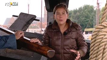 RTL Nieuws 'Vrachtwagen uit de middeleeuwen' op bodem van de IJssel