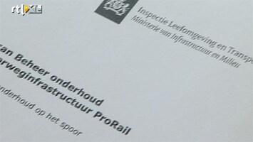 RTL Nieuws Woede over rapport ProRail