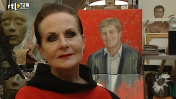 RTL Boulevard Ans Markus over haar schilderij van Willem Alexander
