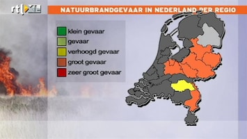 RTL Nieuws Gevaar voor natuurbranden door droogte