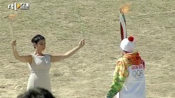 RTL Nieuws Olympische vlam op weg naar Sotsji