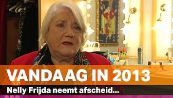 Vandaag in 2013: Nelly Frijda neemt afscheid