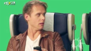 RTL Boulevard Armin van Buuren in KLM reclame