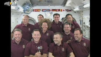 RTL Nieuws Obama belt Spaceshuttle: zin in pizza