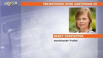 RTL Nieuws ProRail: Niet met de trein van en naar Amsterdam