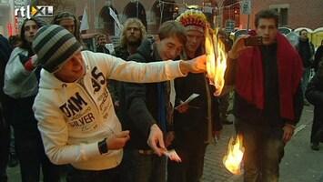 RTL Nieuws Dollars in brand bij Occupy-Amsterdam