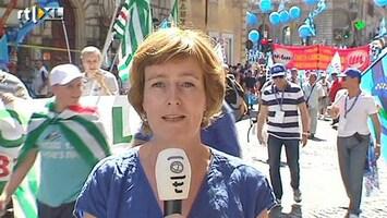RTL Nieuws Boze Italiaanse vutters de straat op