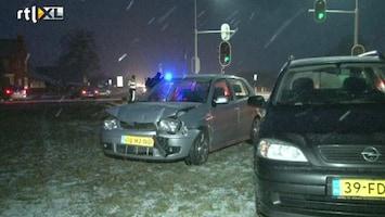 RTL Nieuws Nederland verrast door winterweer tijdens spits