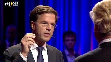 RTL Nieuws Wilders vs. Rutte: ongedekte cheques voor Europa?