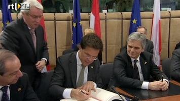 RTL Nieuws Europese leiders tekenen begrotingspact