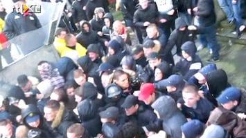 RTL Nieuws Politie getergd na voetbalrellen