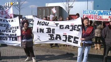 RTL Nieuws Protest in Heerhugowaard tegen sluiten gevangenissen