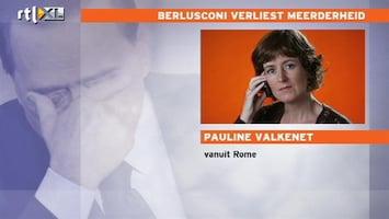 RTL Nieuws 'Berlusconi zal niet snel zelf aftreden'
