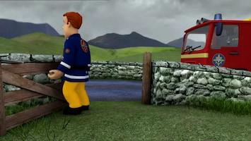 Brandweerman Sam Schaap op de weg