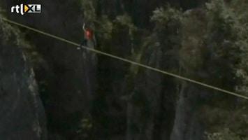 Editie NL Waaghals loopt over koord op 2 km hoogte