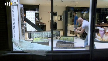 RTL Nieuws Spoor van vernieling na rellen Rotterdam