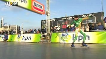 RTL Nieuws Kampioen Natuurijs met Pirouette over finish