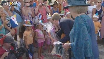 RTL Nieuws Demonstranten bij de Koningin op Bonaire