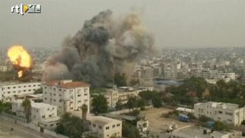 RTL Nieuws Keiharde raketinslagen in Gaza gefilmd