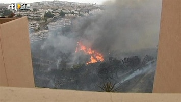 RTL Nieuws Grote bosbrand bedreigt toeristenoord Marbella