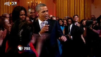 RTL Nieuws Obama zingt op eigen bluesfeestje