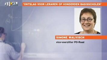 RTL Nieuws 'Ontslag voor leraren op honderden basisscholen'