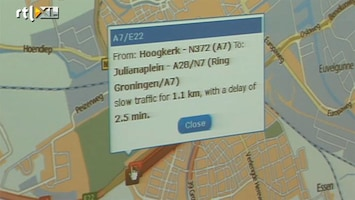 RTL Nieuws TomTom: Groningen staat het vaakst vast