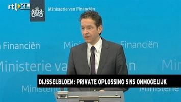 RTL Nieuws Dijsselbloem: Private oplossing SNS bleek onmogelijk