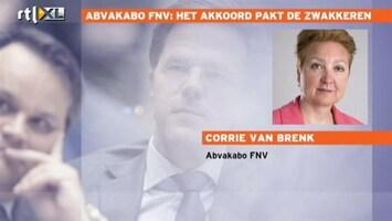 RTL Nieuws AMVAKABO FNV: Het akkoord pakt de zwakkeren