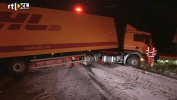 RTL Nieuws Verkeer en trein hebben last van sneeuw