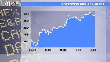RTL Z Nieuws 13:00 AEX wint meer dan 1%, KPN afgestraft