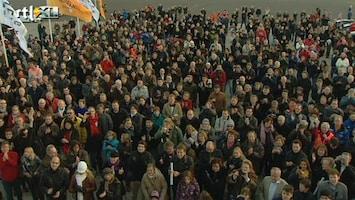 RTL Nieuws Saabrijders betuigen failliet Saab steun