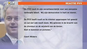 RTL Nieuws Reactie Wilders op Noorse schutter
