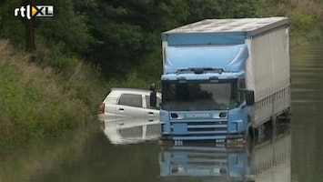 RTL Nieuws Wegen Kopenhagen onder water