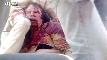 RTL Nieuws Nieuwe beelden lichaam Khadaffi (schokkend)