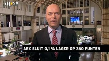 RTL Z Nieuws 17:30 AEX sluit lager door tegenvallend handelstekort VS