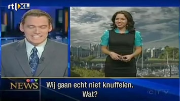 Editie NL Presentator loopt blauwtje