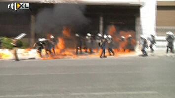 RTL Nieuws Geweld bij protesten Griekenland