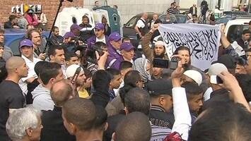 RTL Nieuws Rellen bij moslimprotest in België